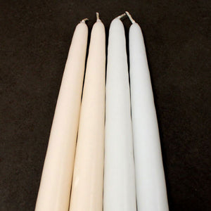 Ivory and White Wedding Taper Candles