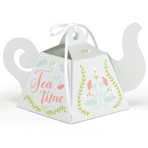 Tea Pot Tea Time Party Favor Box