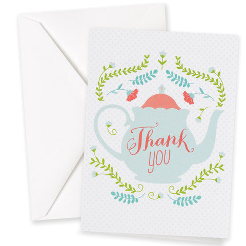 Tea Pot Thank You Card Set (Pack of 25 Cards)