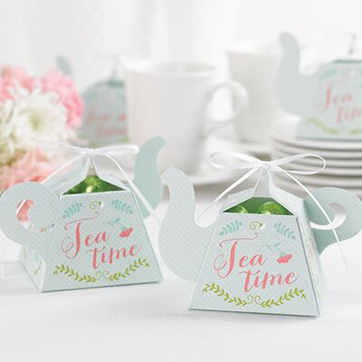 Teapot Tea Time Party Favor Box (Pack of 12)
