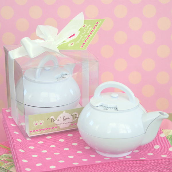 Time for Tea Teapot Timer Wedding Party Favor with Box