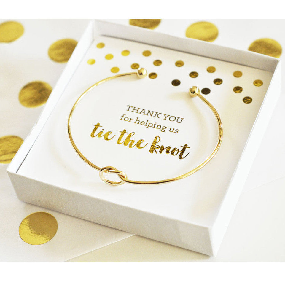 Thank you for...Tie the Knot Bridal Party Bracelet – Candy Cake Weddings