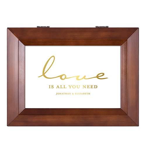 The Beatles Love Is All You Need Personalized Wooden Music Box