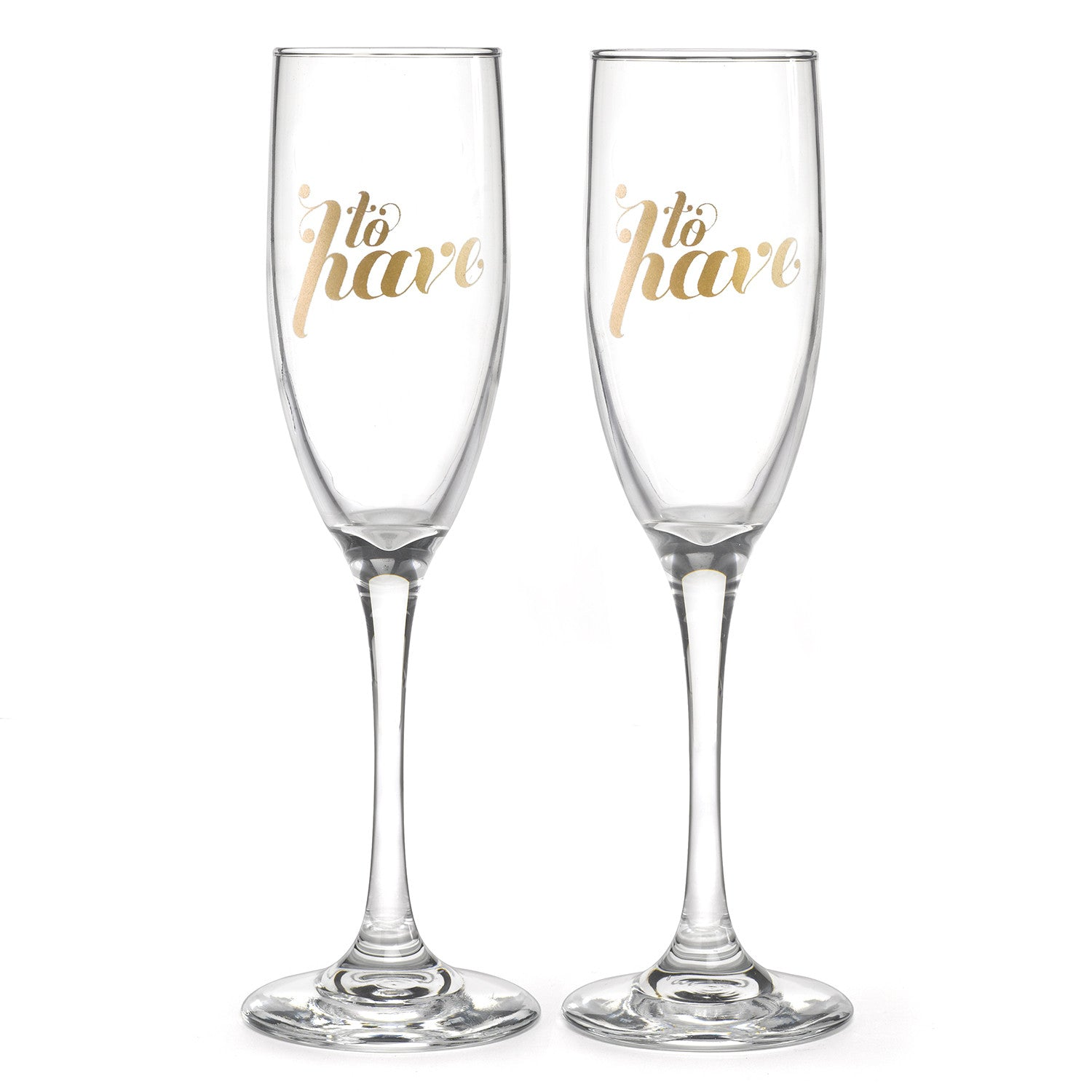 To Have & To Hold Champagne Toast Wedding Glass Gift Set – Candy
