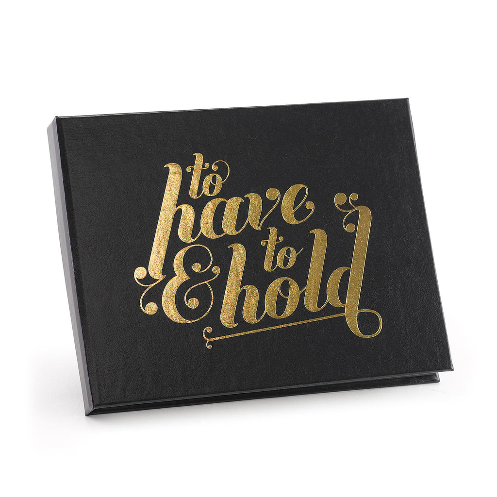 Black and Gold To Have & Hold Wedding Guest Book