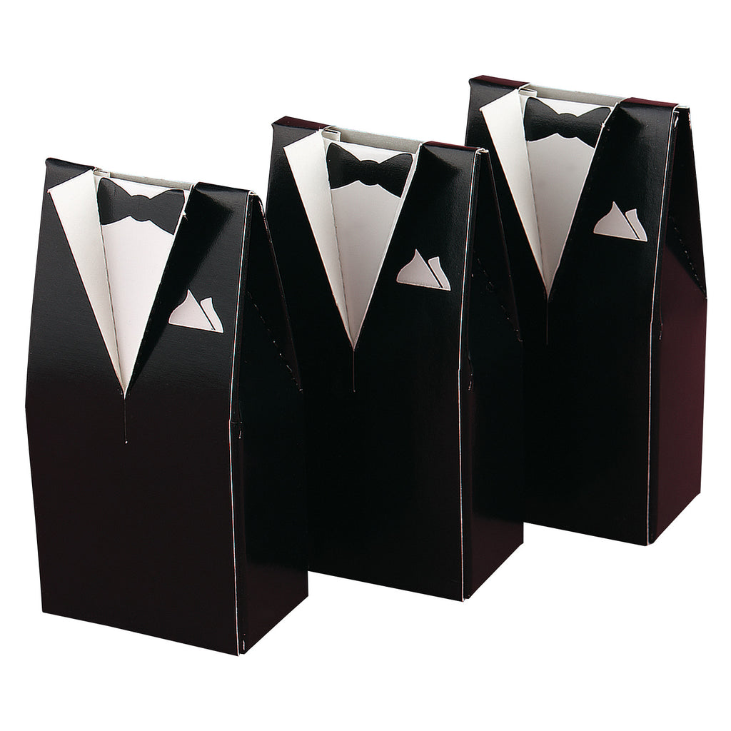 Groom's Tuxedo Wedding Favor Box (Pack of 25)