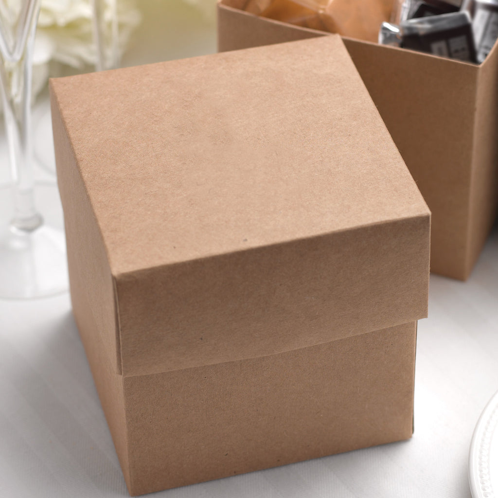 Kraft Two Piece Cupcake Favor Box