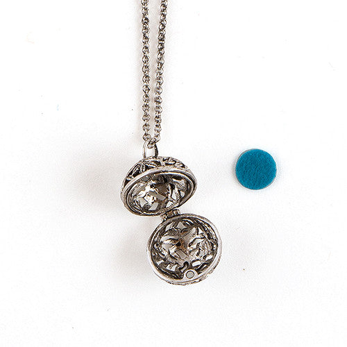 Orb Bridesmaid Flower Girl Locket Necklace with Chain