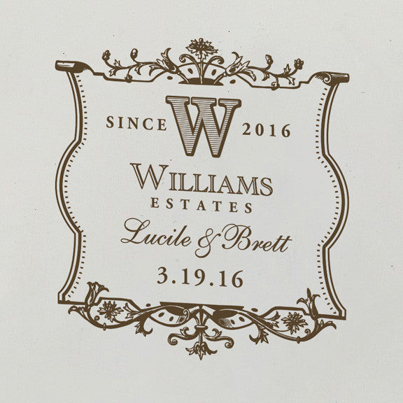 Wine Label Design Personalized Wine Ceremony Box