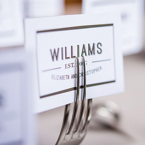 Twisted Fork Vintage Inspired Place Card Stationery Holder