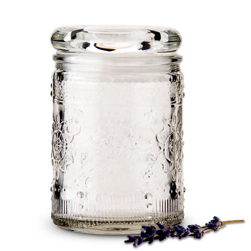 Floral Glass Small Mason Jar Party Favor with Lid