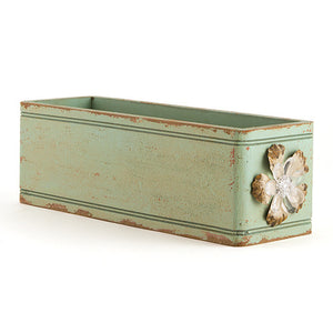 Vintage Green Ornamental Box for Decorative Table Settings