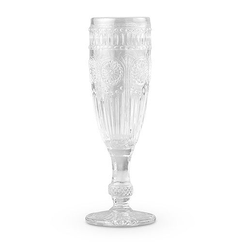 Clear Vintage Pressed Glass Wedding Party Glassware