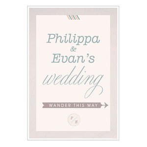 Wedding Wanderlust Directional Poster