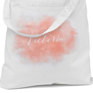 Personalized Watercolor Wedding Party Welcome Tote Bag