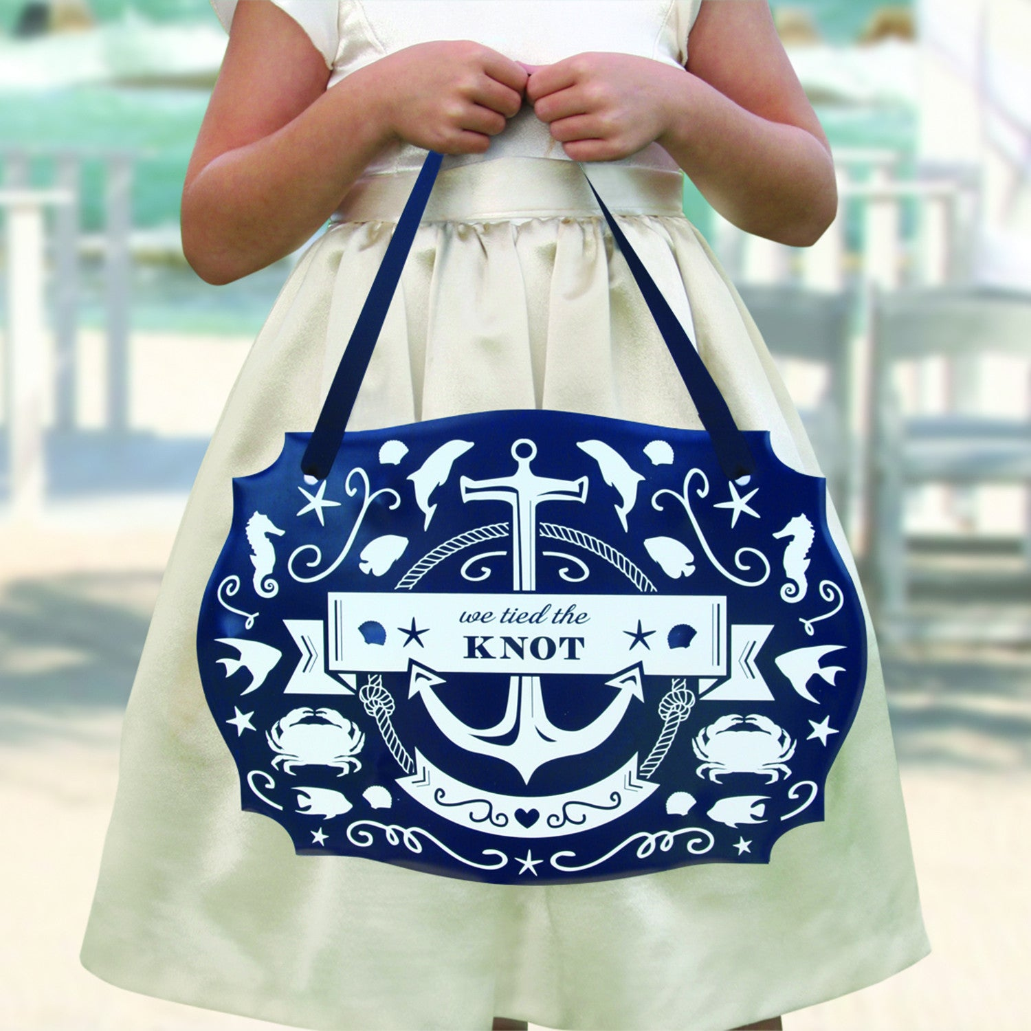 Nautical Wedding Ideas Pictures: Large Nautical Themed Wedding 2-Sided Sign