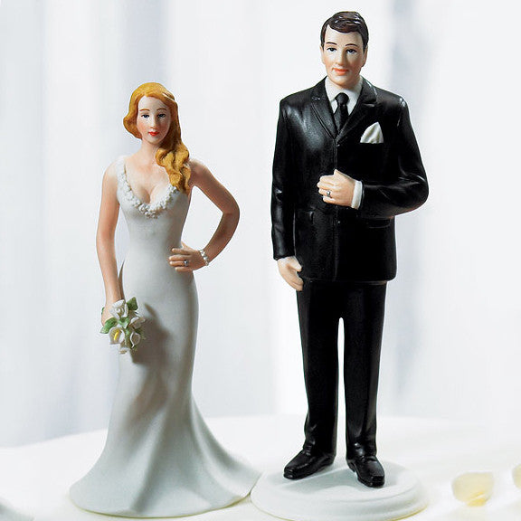 The Wedding Cake Top Big & Tall Groom Figurine with the Curvy Bride (not included).