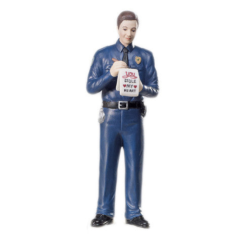 "Wedding Cake Top - ""A Love Citation"" Policeman Groom Figurine"