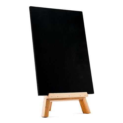 Chalkboard Sign with Wooden Easel for Party Special Event or Wedding