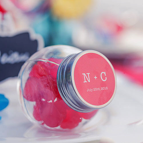 Mini Glass Jars for Candy Buffet Wedding Favors