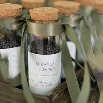 Eco-Favors Mini Glass Bottle with Cork