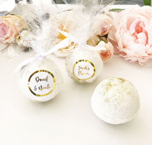 Custom Personalized Bath Bomb Foil Wedding Party Favors (Pack of 12)