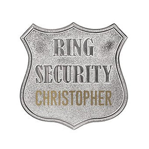 Personalized Ring Bearer Wedding Security Badge