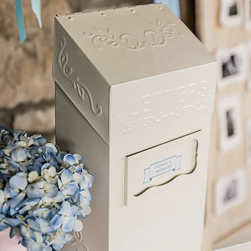 """Special Delivery"" Vintage Wedding Ceremony Letter Box - A great guest book alternative."