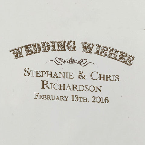 Wedding Wishes Personalized Wine Ceremony Box Save
