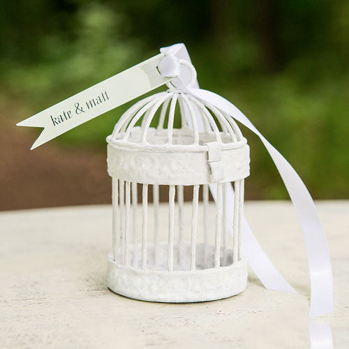 Mini Decorative Birdcage Wedding Party Favors (Pack of 4)