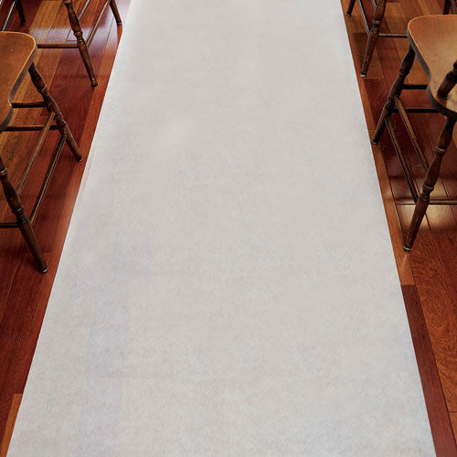 White Wedding Aisle Runner with Hearts