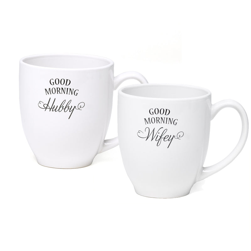 Good Morning Wifey/Hubby Coffee Cup Gift Set