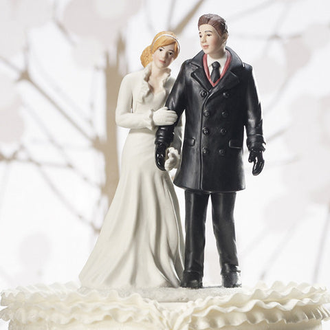 Winter Wedding Cake Top