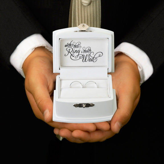With This Ring I Thee Wed Wedding Ring Bearer Box