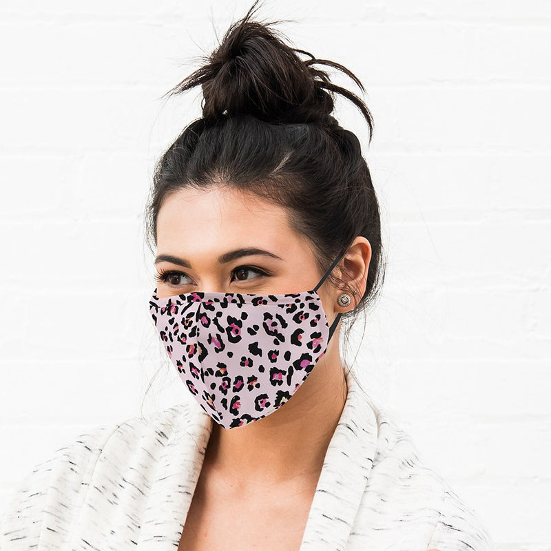 Pink Leopard Print Cloth Face Mask