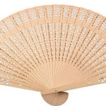 Sandalwood Folding Hand Fan Weddings Parties