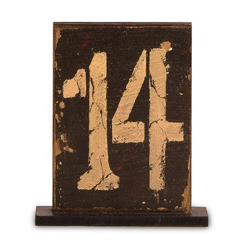 Rustic Self Standing Table Number Holder