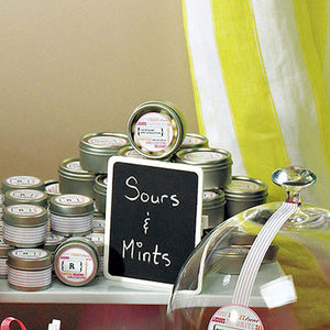 Mini Chalkboard with Clips used for party favor table.