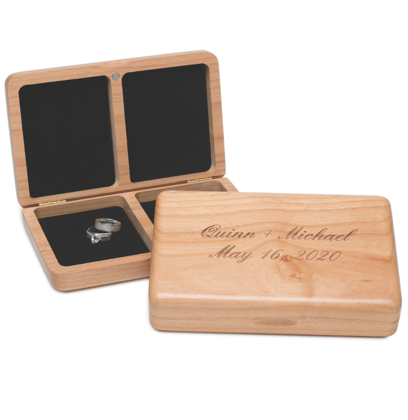 Personalized Wooden Ring Box