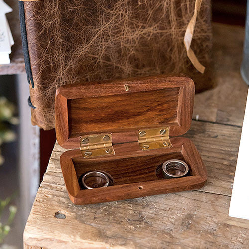 Wooden Wedding Ring Box