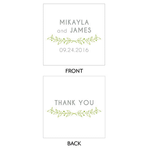 Woodland Square Wedding Favor Tag - 2 Inch