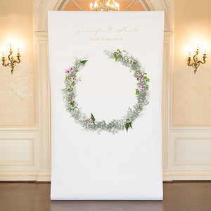 Woodland Wedding Personalized Photo Shoot Backdrop