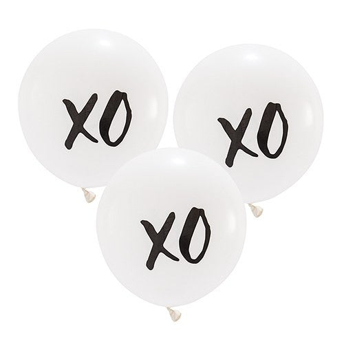Themed Balloon Proposal Wedding Bridal Shower 17-inch White and Black