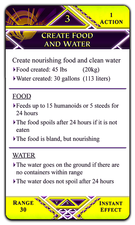 Create Food and Water