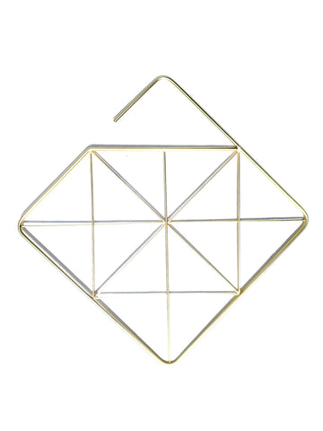 Accessory Hanger Organizer Brass Modernist Square