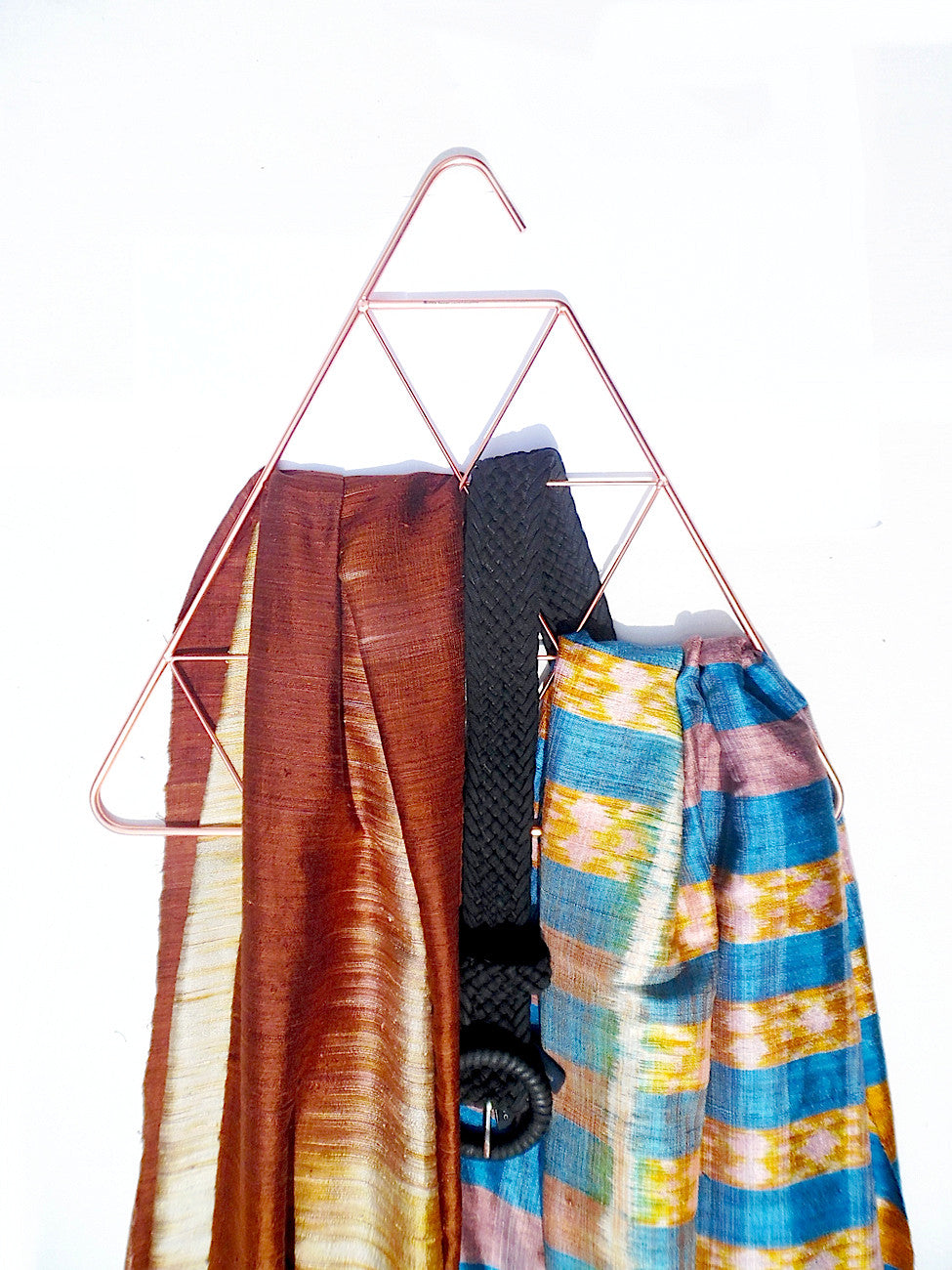 Accessory Hanger Organizer Copper Triangle