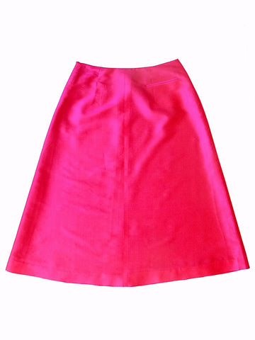 Audrey Skirt Thai Silk Taffeta Red