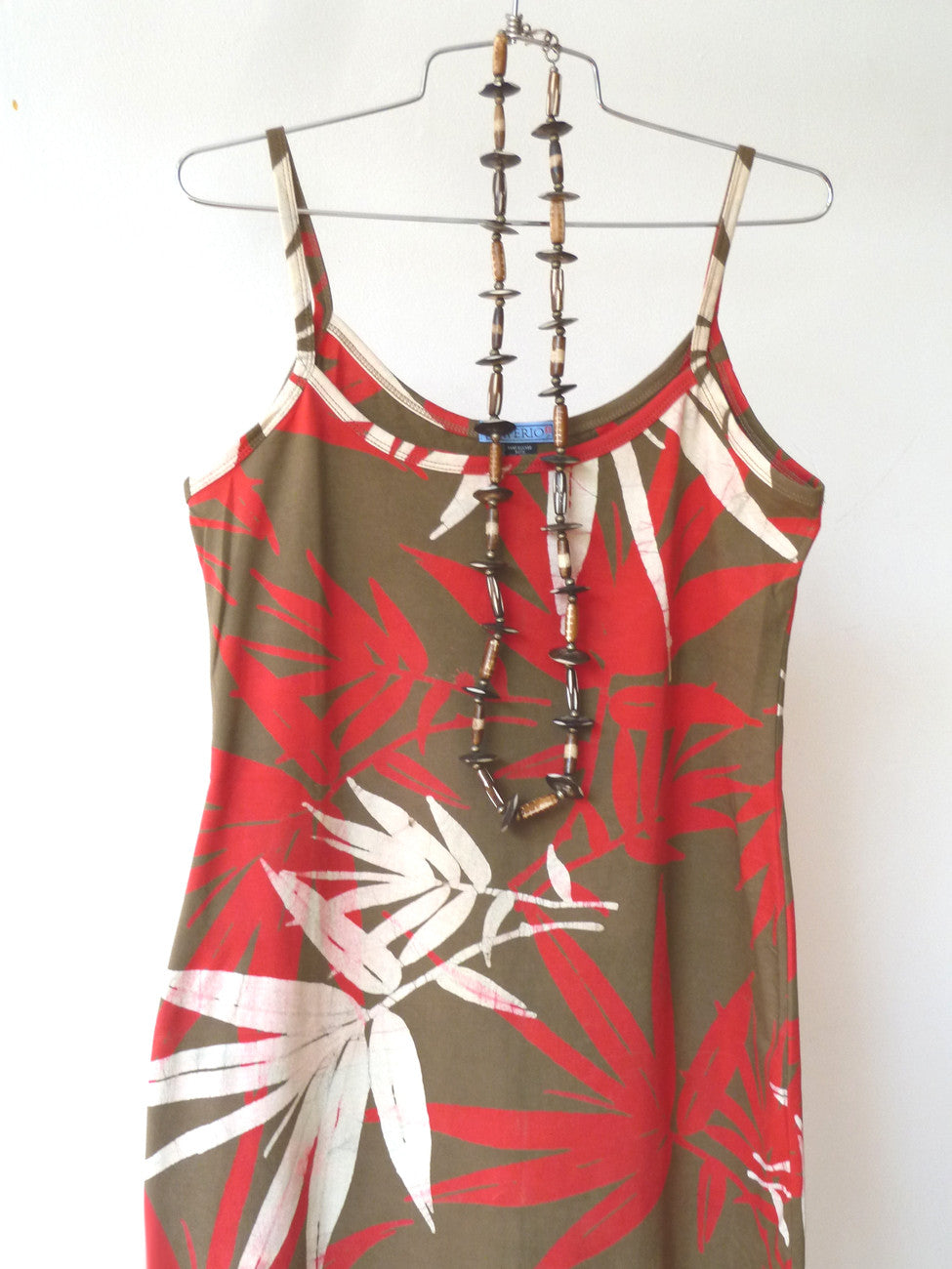 Batik Beach Dress Matisse in Bamboo Red