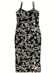 Batik Beach Dress Matisse  In Black And Cream