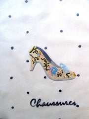 Hand Embroidered Travel Bags Chaussures  Shoe Bag